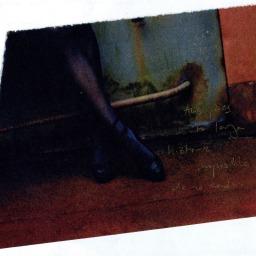 Retrato en artemisa y burdeos