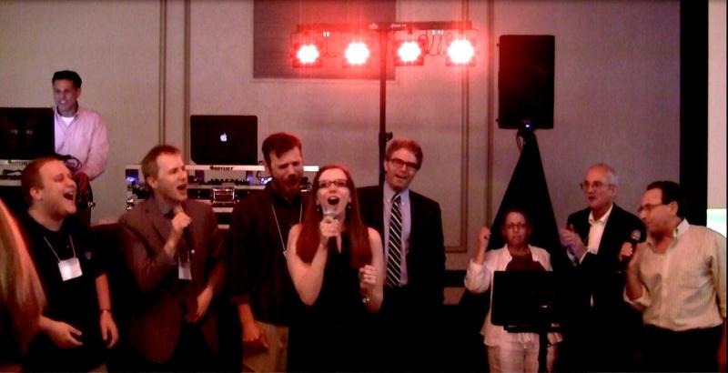 ashley-hunt-martorano-and-her-group-singing-karaoke